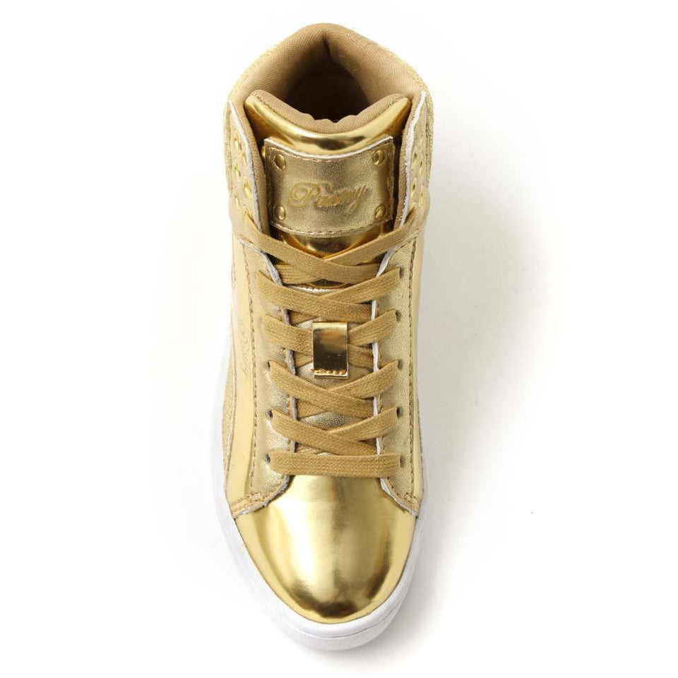 Pastry Pop Tart Glitter Youth Sneaker in Gold