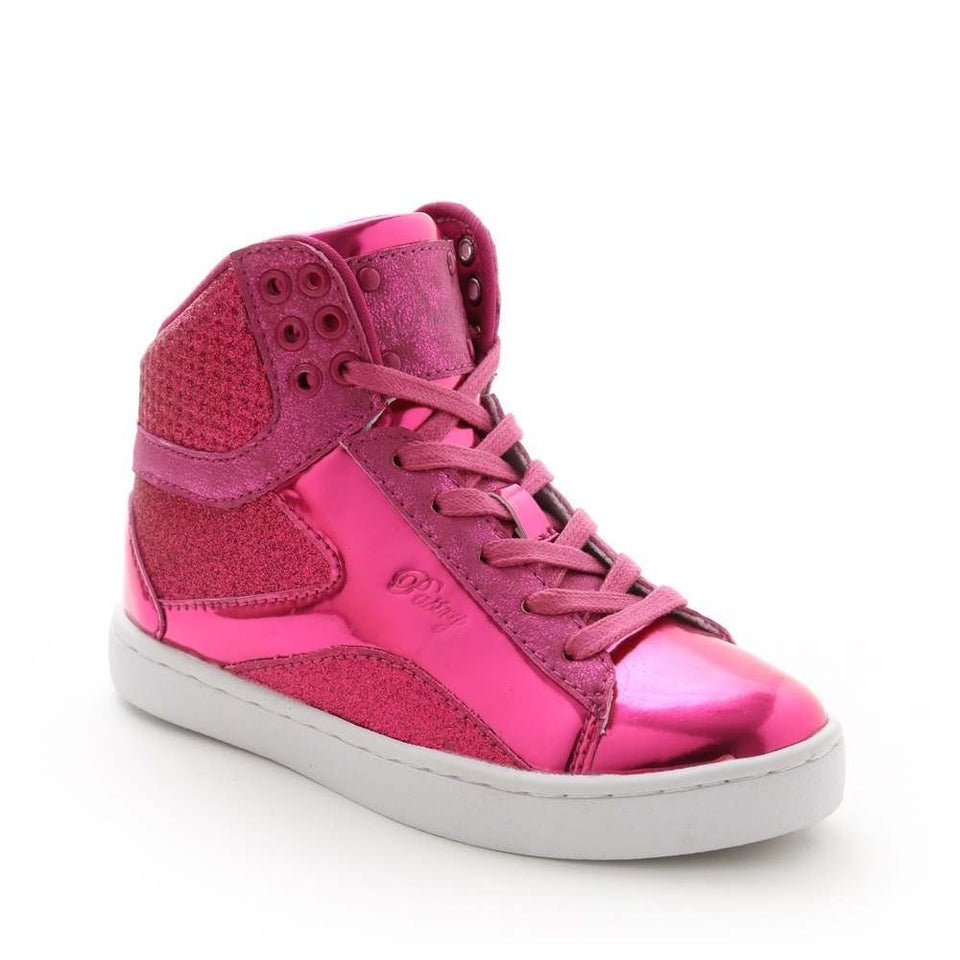 Pastry Pop Tart Glitter Youth Sneaker in Fuchsia
