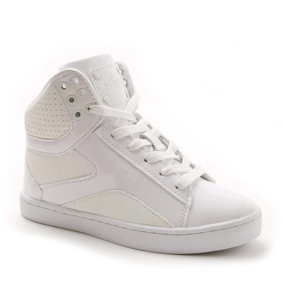Pastry Pop Tart Glitter Youth Dance Sneaker in White