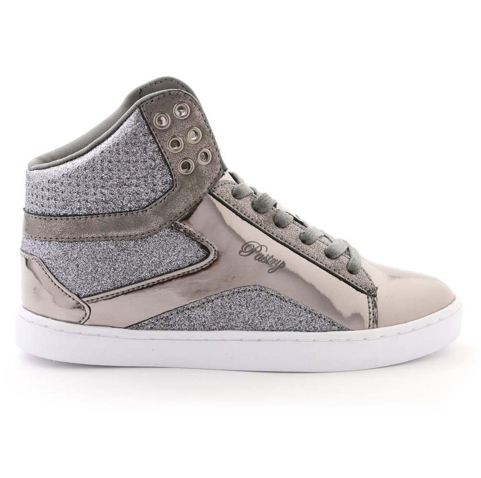 Pastry Pop Tart Glitter Adult Dance Sneaker in Gunmetal