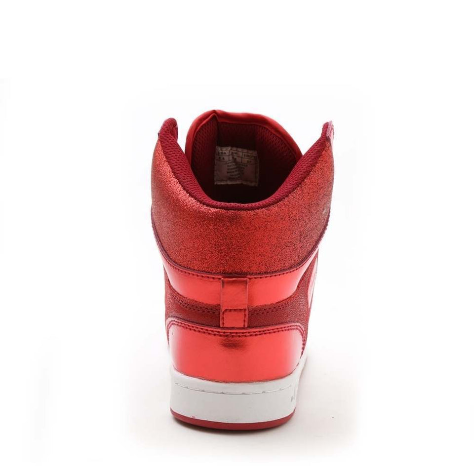 Pastry Glam Pie Glitter Adult Sneaker in Red
