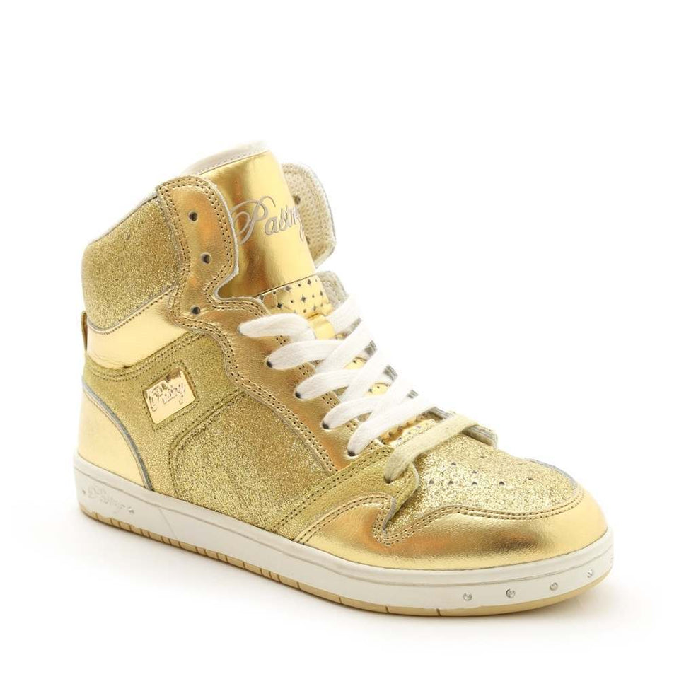 Pastry Glam Pie Glitter Adult Dance Sneaker in Gold