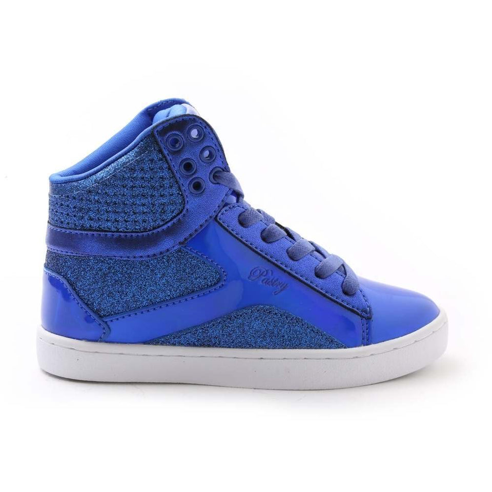 Pastry Pop Tart Glitter Youth Sneaker in Blue