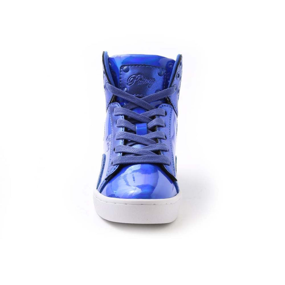 Pastry Pop Tart Glitter Youth Dance Sneaker in Blue