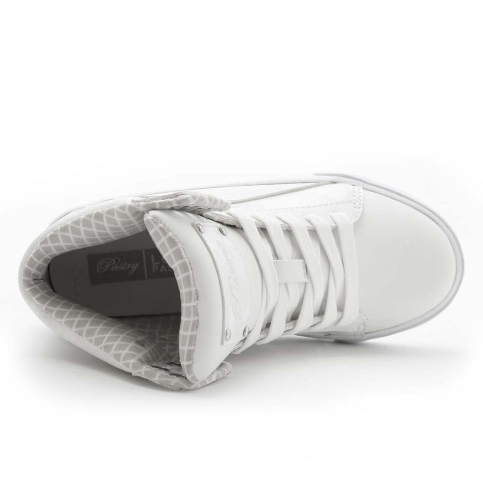 Pastry Pop Tart Grid Youth Hip Hop Dance Sneaker in White