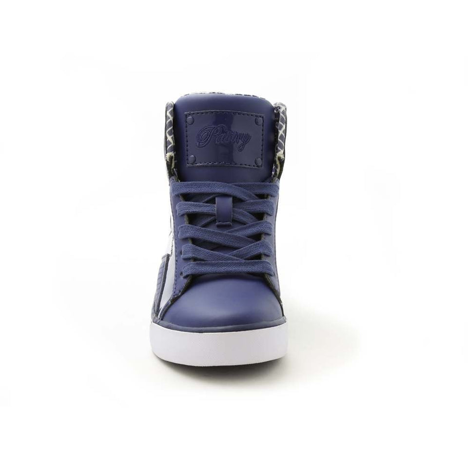 Pastry Pop Tart Grid Youth Hip Hop Dance Sneaker in Navy