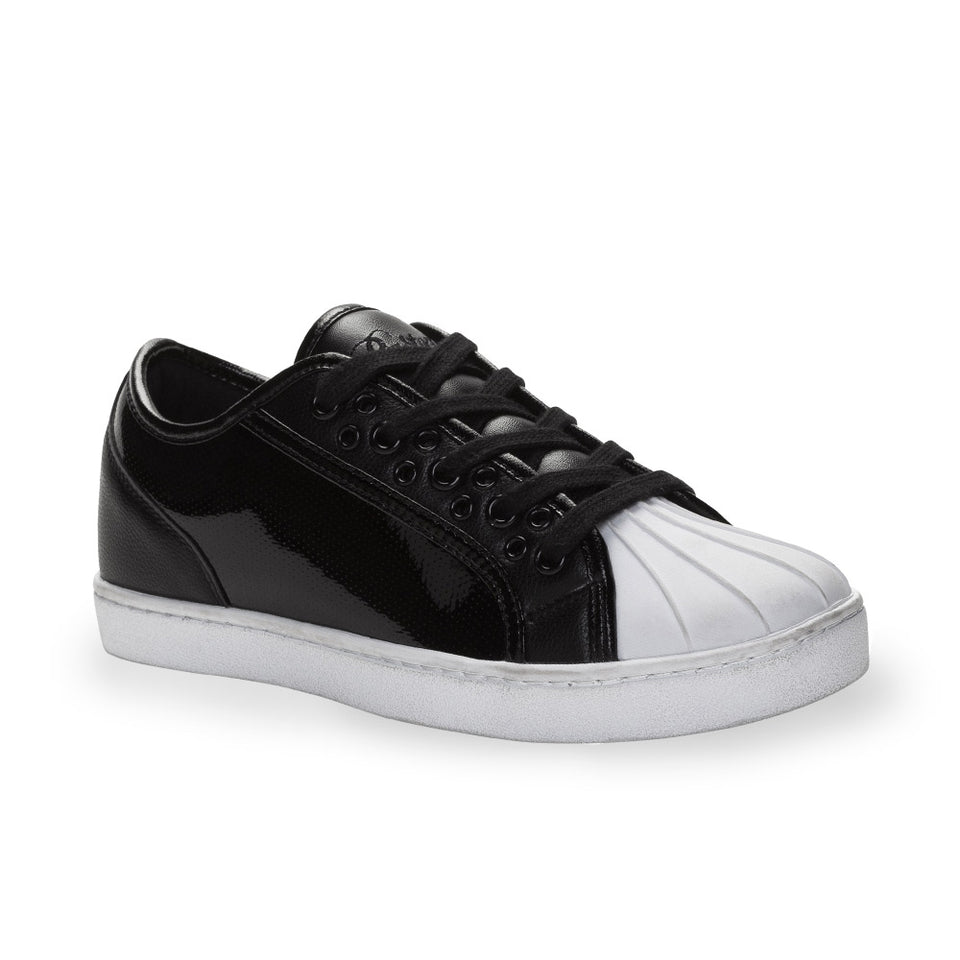 Pastry Paris Praline Adult Dance Sneaker in Black/White