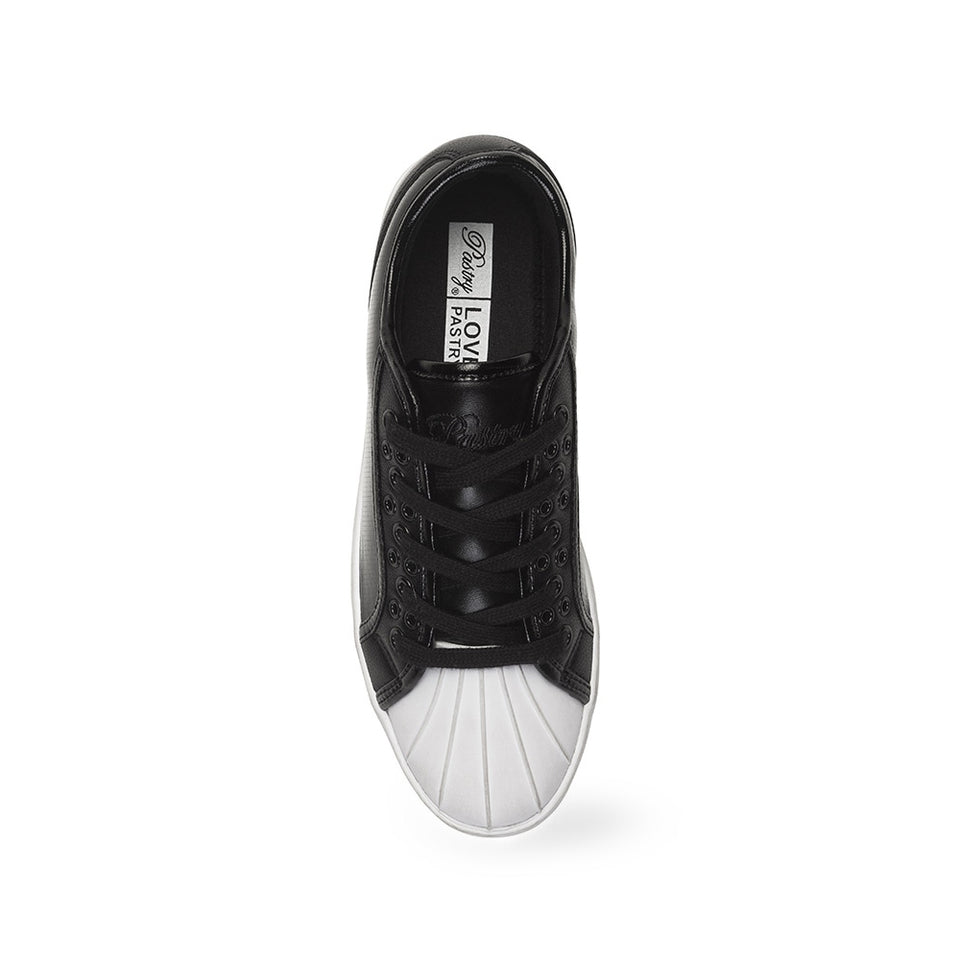 Pastry Paris Praline Adult Sneaker in Black/White