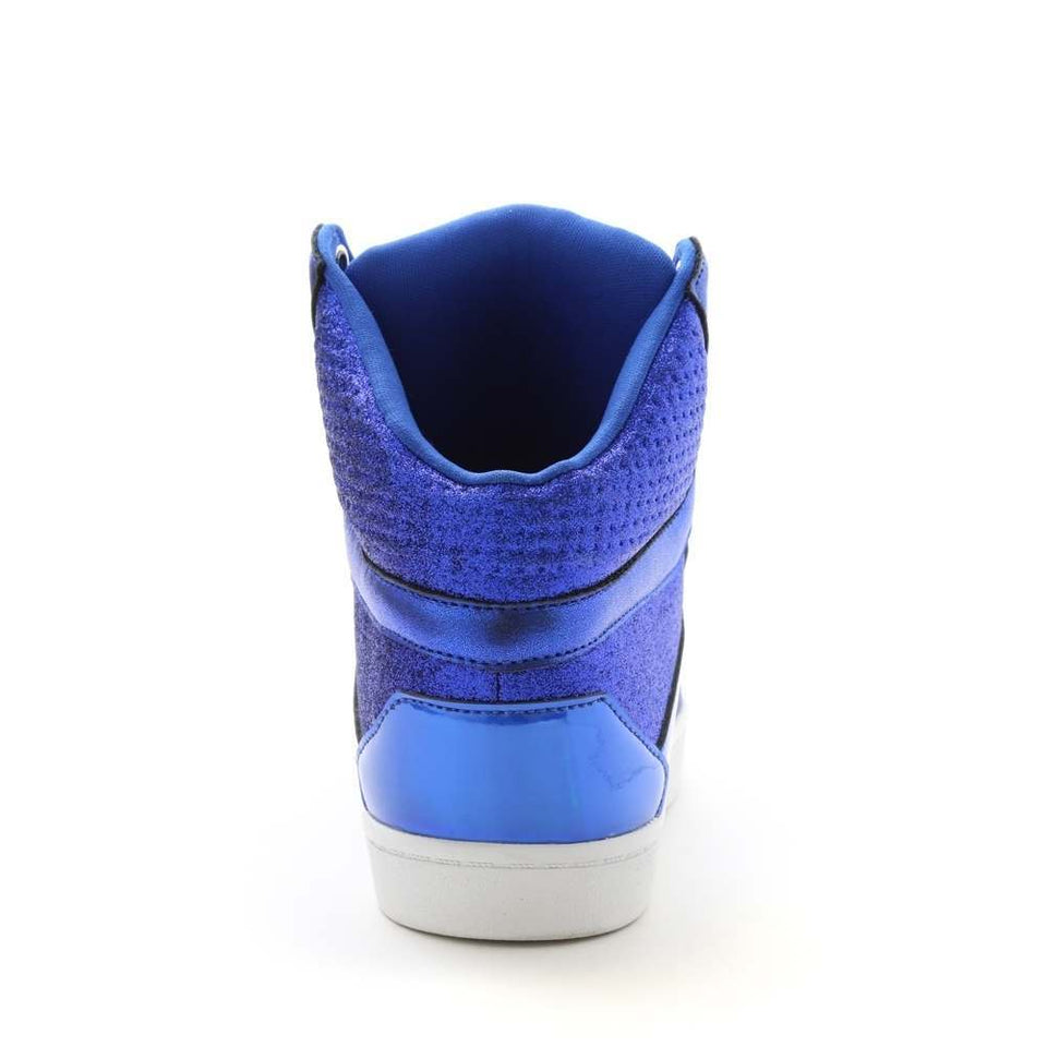 Pastry Pop Tart Glitter Adult Sneaker in Blue