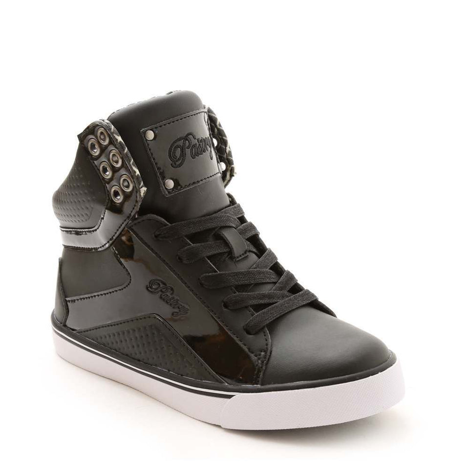 Pastry Pop Tart Grid Adult Hip Hop Dance Sneaker in Black/White