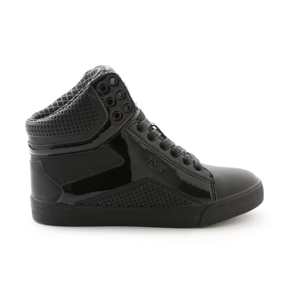 Pastry Pop Tart Grid Youth Sneaker in Black/Black