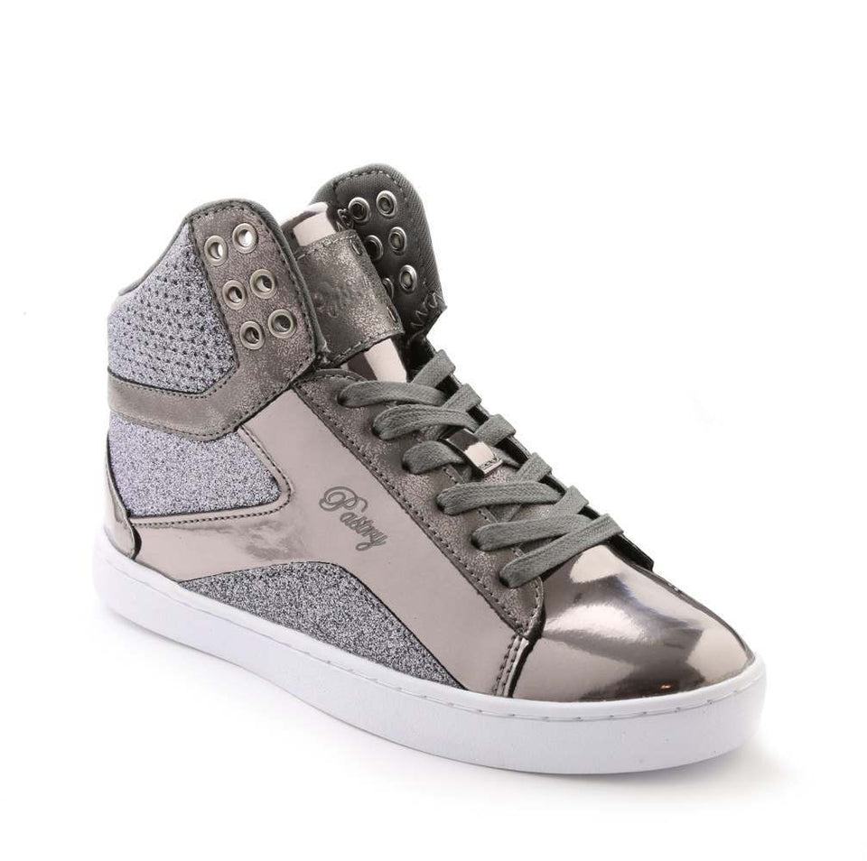 Pastry Pop Tart Glitter Adult Sneaker in Gunmetal