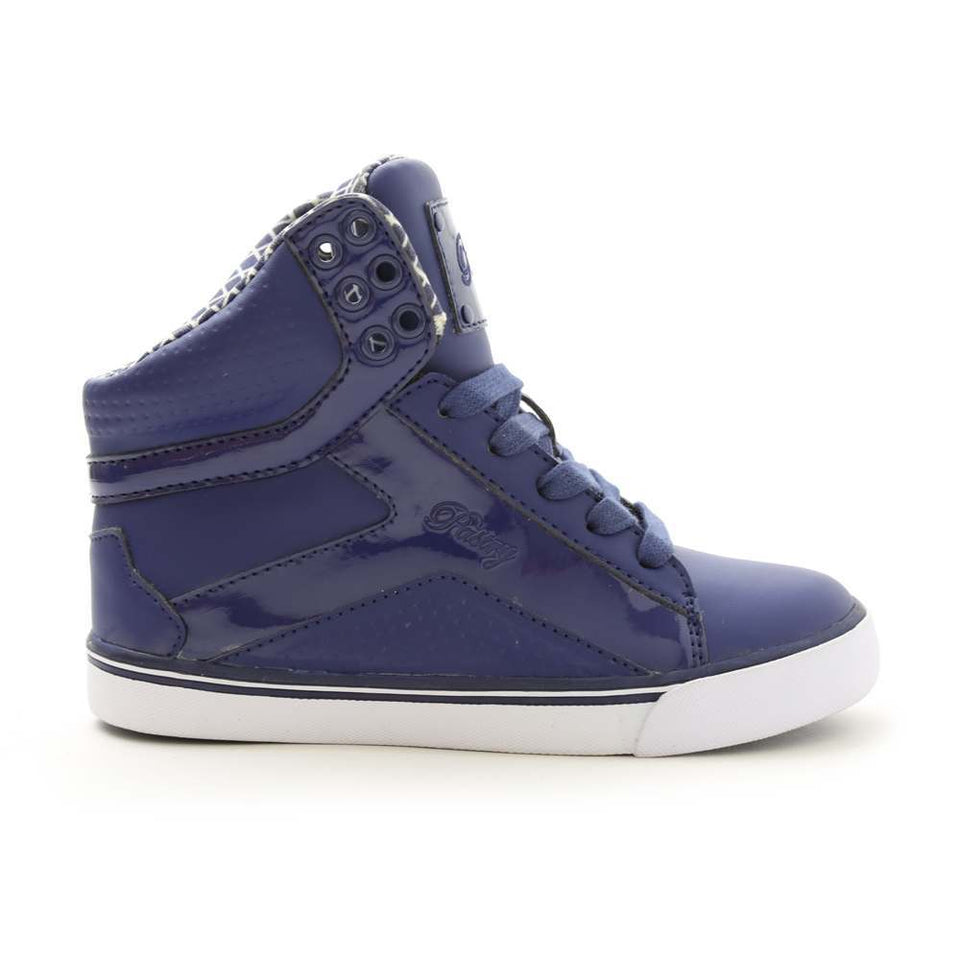 Pastry Pop Tart Grid Youth Sneaker in Navy