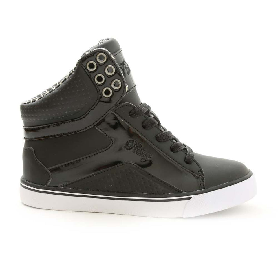 Pastry Pop Tart Grid Youth Hip Hop Dance Sneaker in Black/White