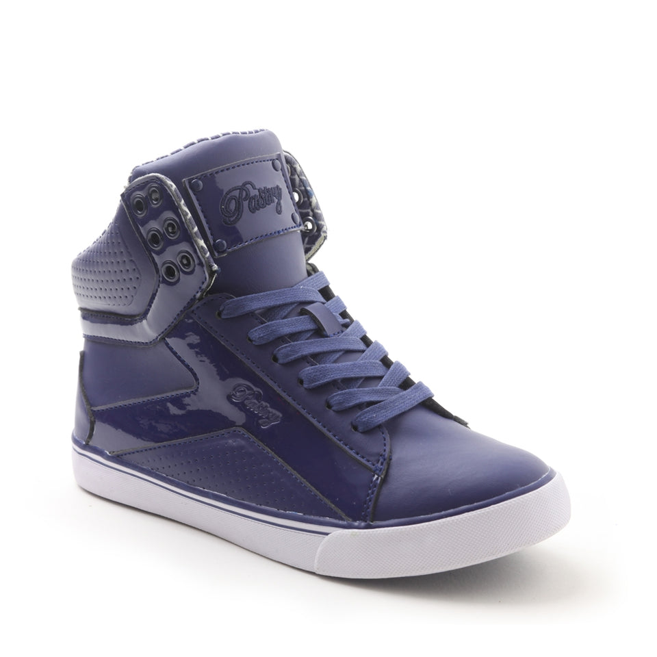 Pastry Pop Tart Grid Adult Hip Hop Dance Sneaker in Navy