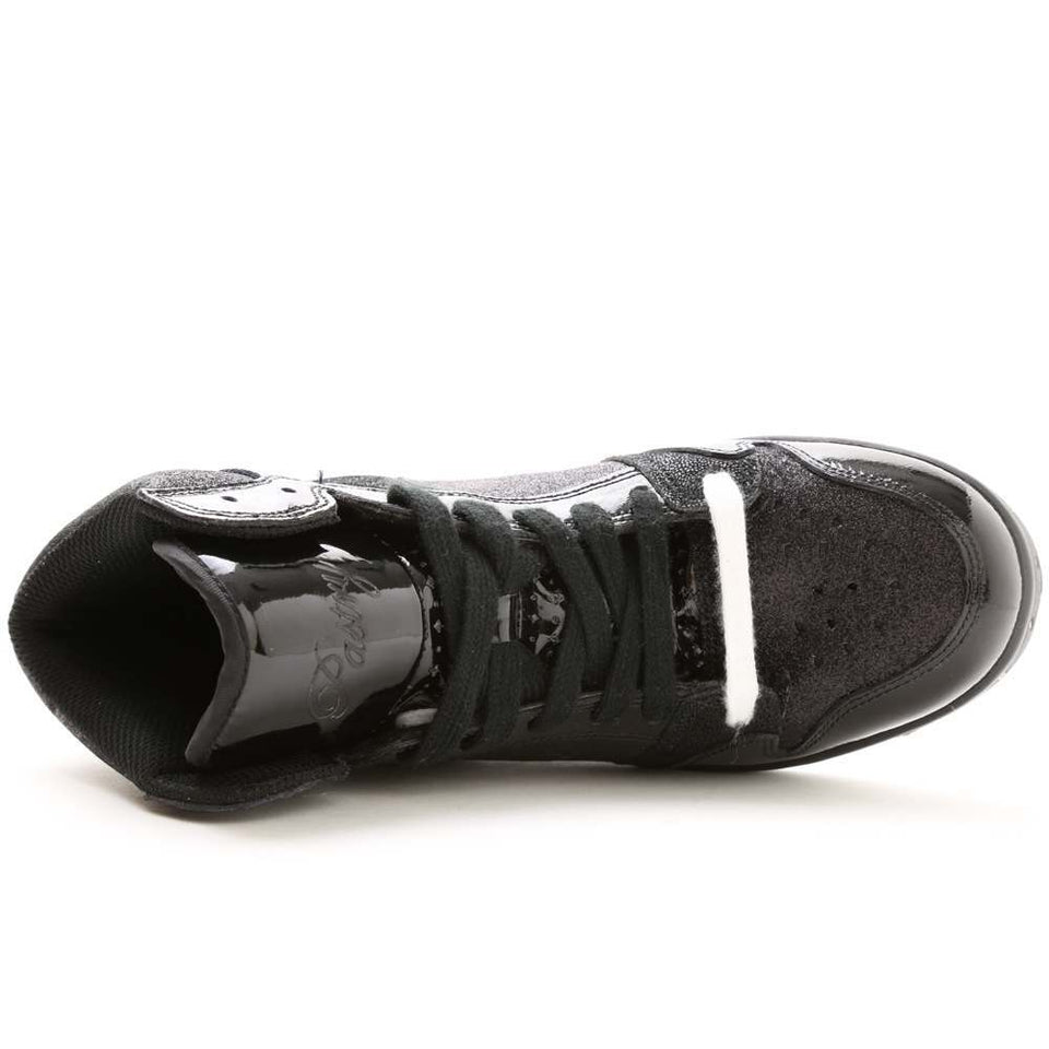 Pastry Glam Pie Glitter Adult Dance Sneaker in Black/Black