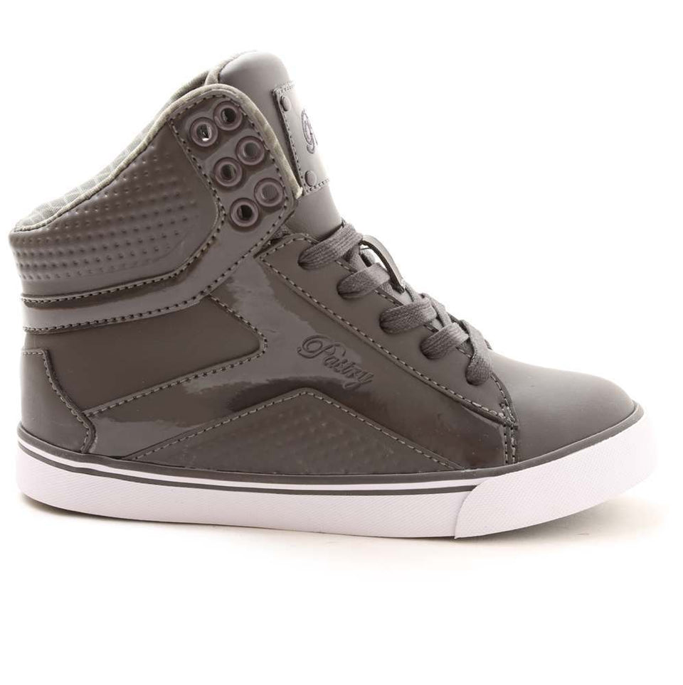 Pastry Pop Tart Grid Adult Hip Hop Sneaker in Charcoal