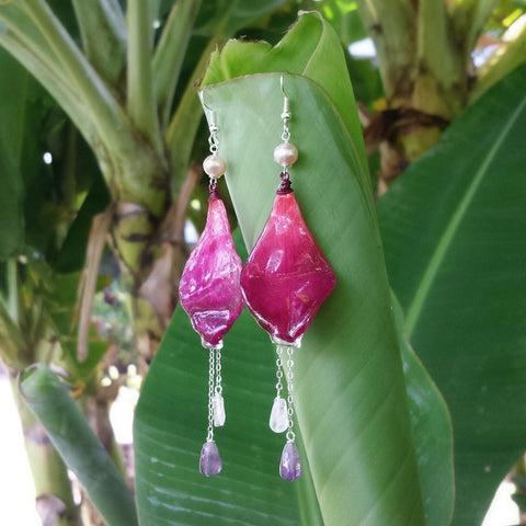 Raspberry Sorbet Earrings
