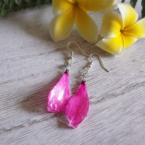 Pink Petal Earrings