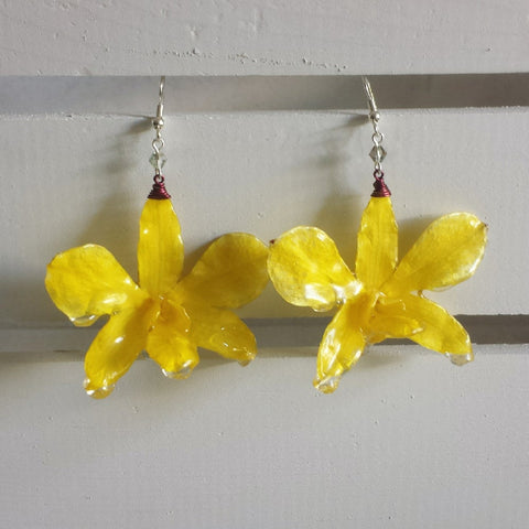 Pineapple Crush Whole Orchid Earrings
