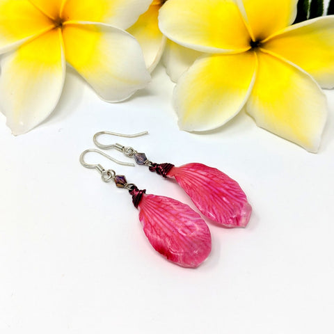 Hawaiian Punch Petal Earrings