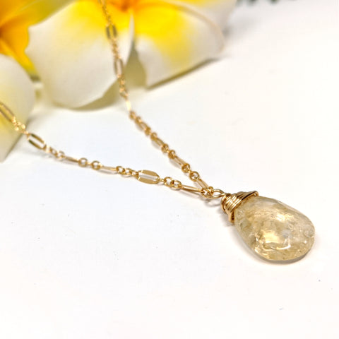 Lili`i Necklace - Citrine