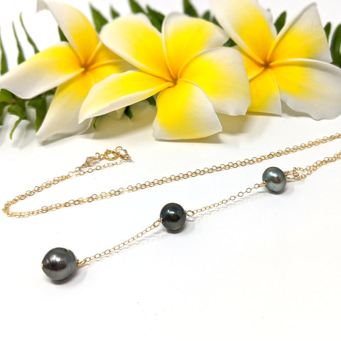 Piko Necklace - Tahitian Pearls