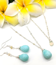 Lili`i Necklace - Peruvian Opal Teardrop