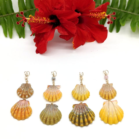 Double Sunrise Shell Necklace