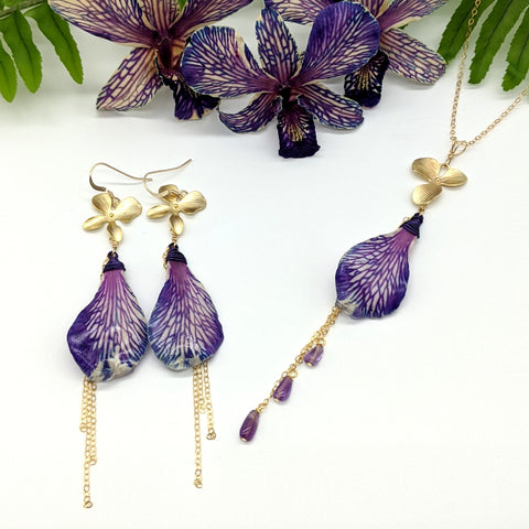 Honi Pua Earrings - Tie Dye