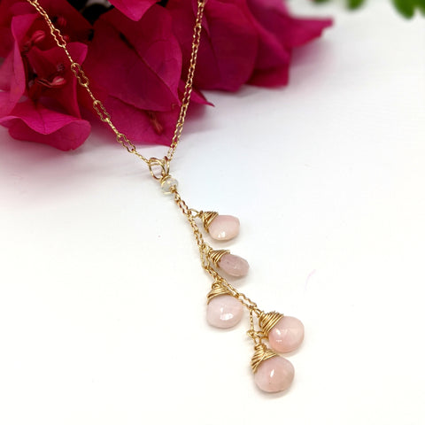 Venus Necklace - Pink Opal