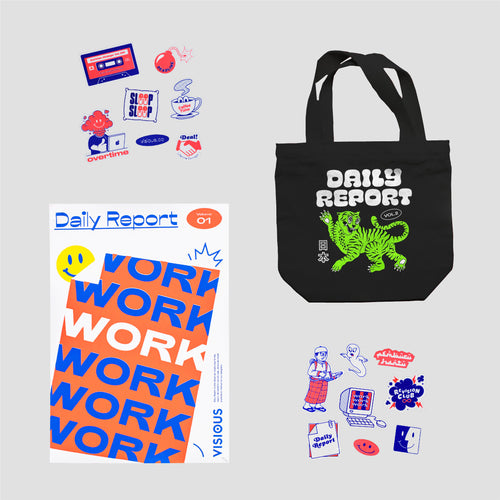Bundle II - 1 Totebag + 1 Sticker + 1 Poster
