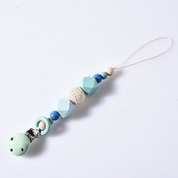 Wooden Baby Pacifier Clips