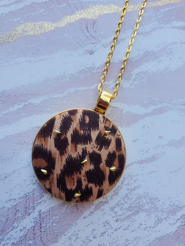 Completely Wild Print Pendant Necklace