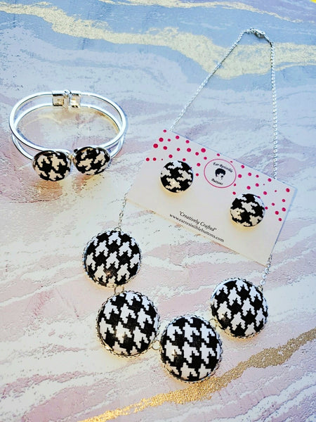 Houndstooth Jewelry Set