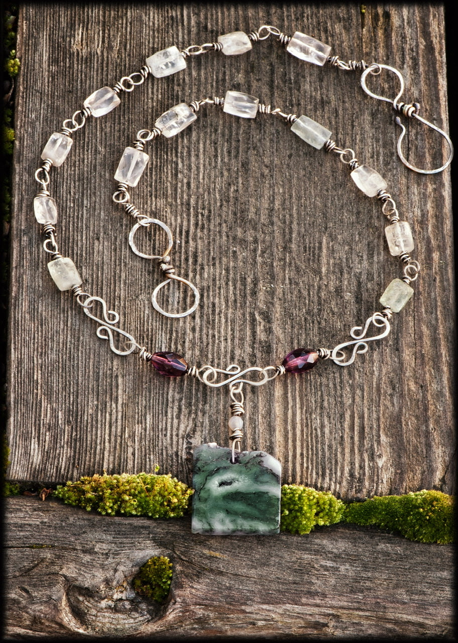 Moss Quartz Necklace