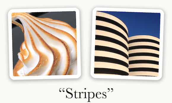 Photo cards connecting based on similar stripes. Push your imagination with OuiSi.