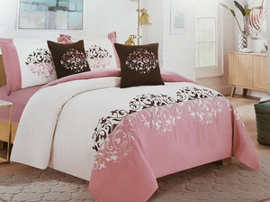 King Size 6PC Comforter Set Double 6 Comforter Set