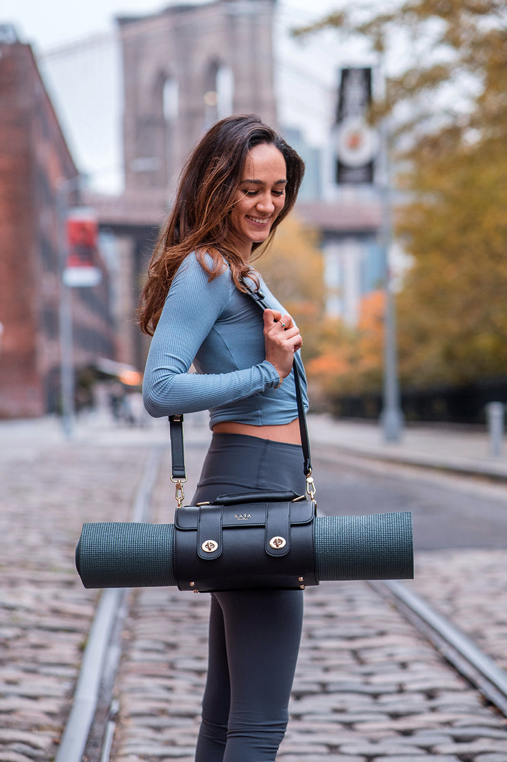 The Emmeline Yoga Mat Bag / Midnight