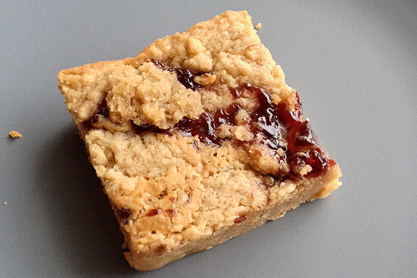 Gluten Free Peanut Butter & Jelly Blondies