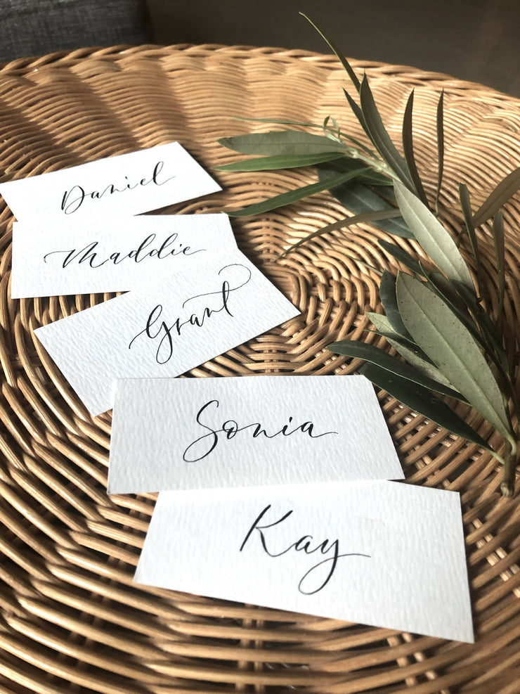 Place cards.