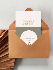 Curved Love Invitation Suite
