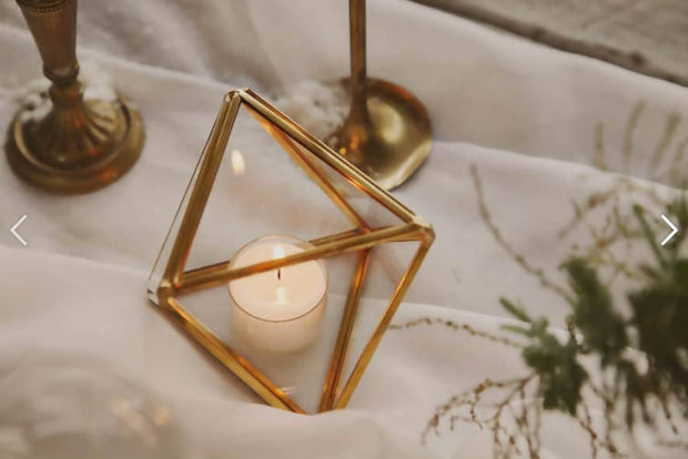 GEO TEALIGHT HOLDER