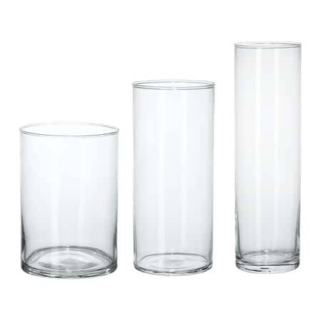 CYLINDER CANDLE GLASS HOLDER