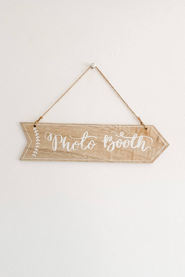 Photo Booth Wooden Sign