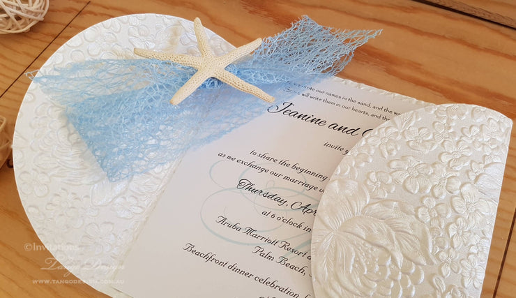 Seaside Wedding Invitation Petalfold