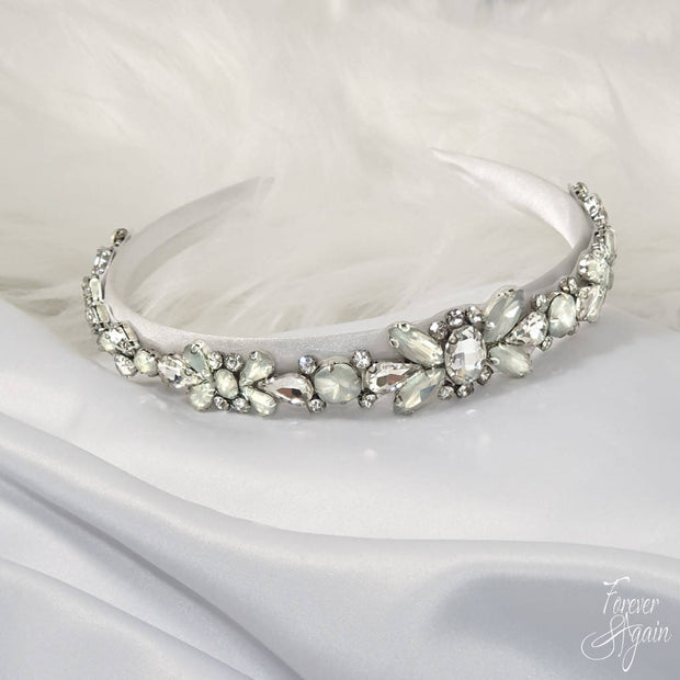 AYLENE CRYSTAL HEADBAND C00593: HAIR ACCESSORIES, WEDDING HAIR BLING, BRIDESMAIDS