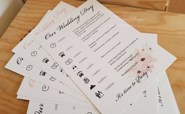 Wedding Program Ceremony A5 Size
