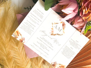"""Avery"" Boho Rustic Gatefold Invitation"