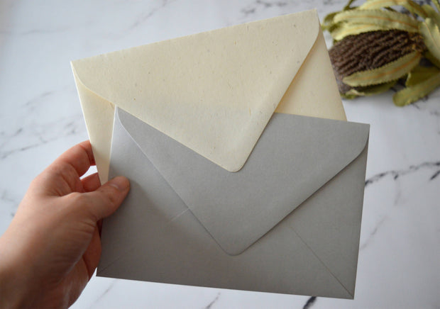 5x7 Envelope Euro Style 130x190mm for Wedding Invitations & Event Stationery